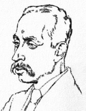 Rainer Maria Rilke, after a drawing of Emil Orlik (1917)