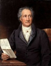 Johann Wolfgang von Goethe in 1828, by a painting of Joseph Karl Stieler