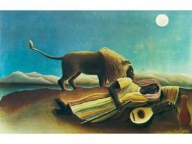 Henri Julien-Félix Rousseau, The sleeping gypsy (1897)