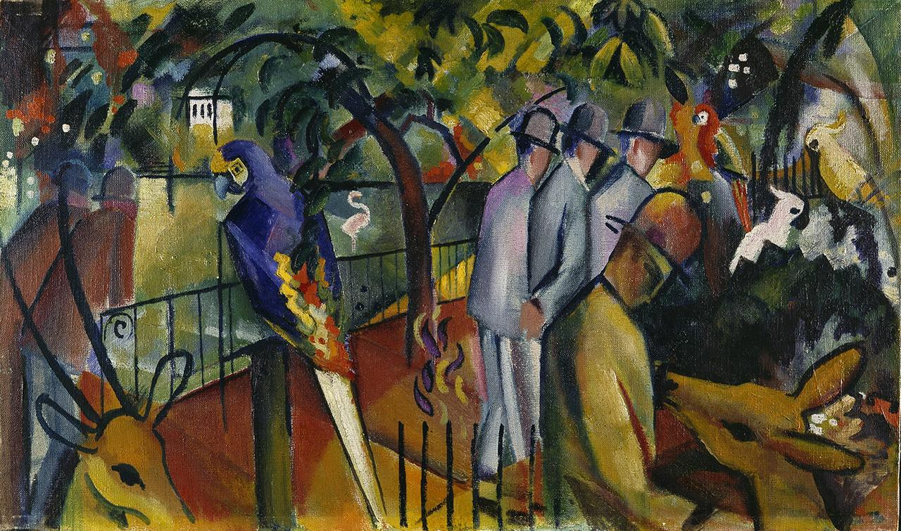 August Macke: Zoologischer Garten I (1912) / August Macke: Zoological Garden I (1912)