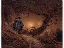 Caspar David Friedrich: Two Men Contemplating the Moon (1819/1920)
